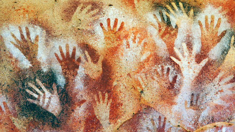 Hand stencils in Argentina