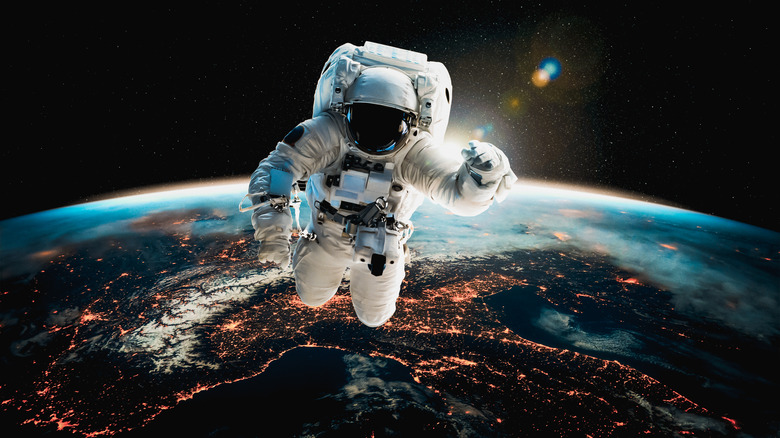 an astronaut in a space suit