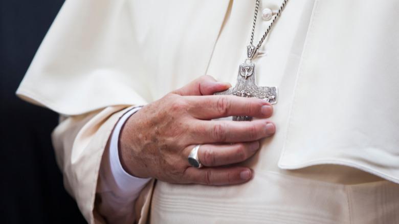 Papal robes and symbols
