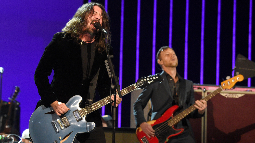 Dave Grohl and Nate Mendel of Foo Fighters