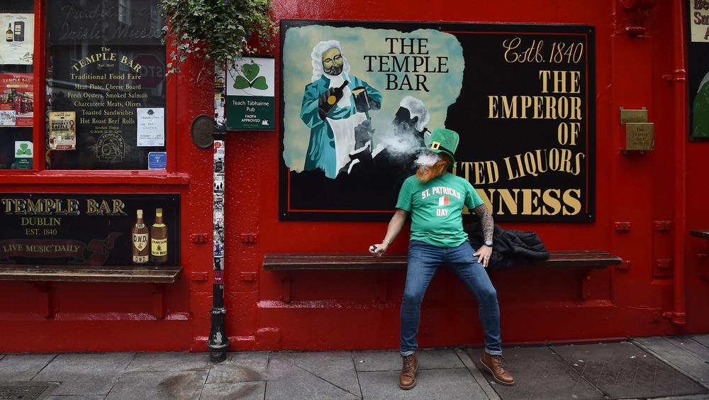 A solitary celebration in Dublin
