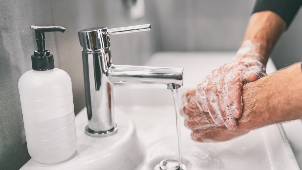Fight the virus by washing hands