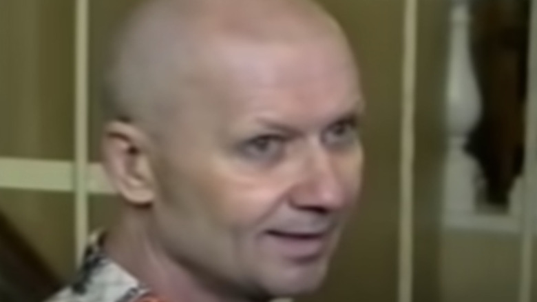 Andrei Chikatilo on trial