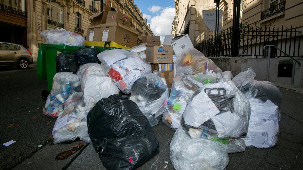 Result of garbage worker strike in Paris
