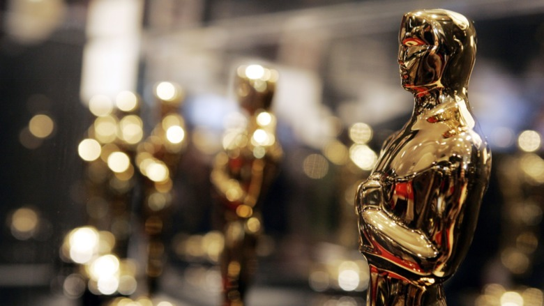Oscar statues lined up