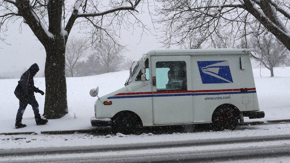 Postal Service Worker in snow