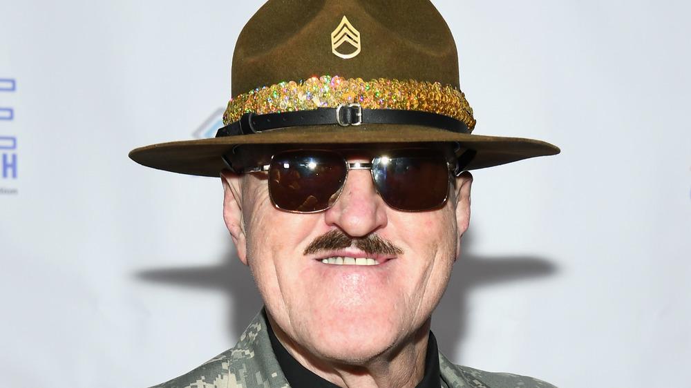 Sgt. Slaughter posing