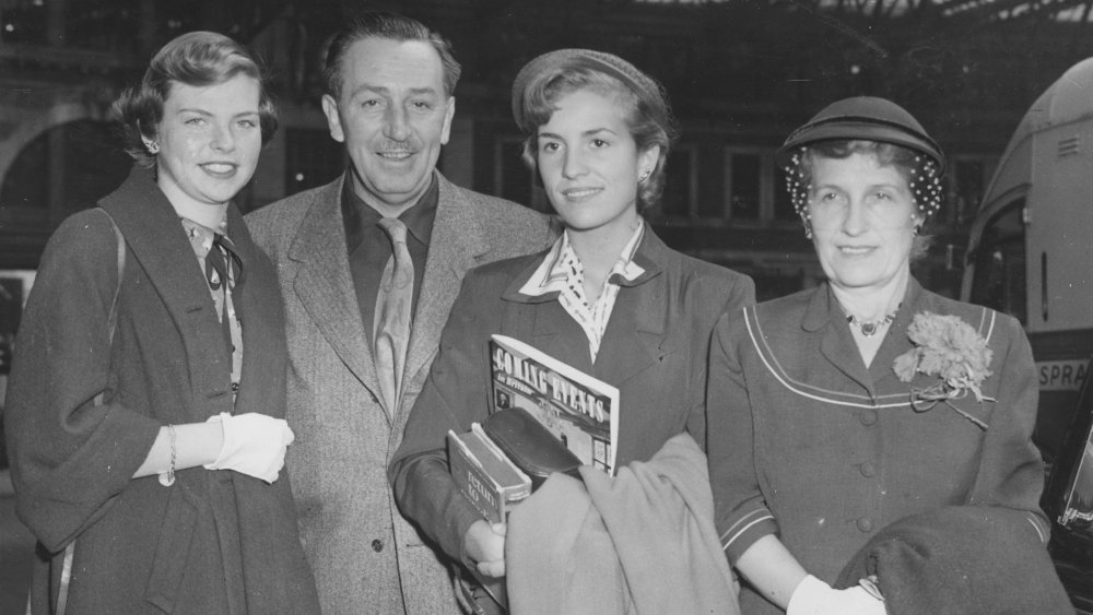 Walt Disney and family