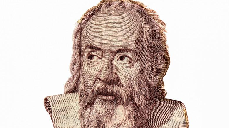 Galileo Galilei banknote portrait