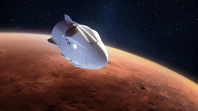 artistic rendering of a spaceship