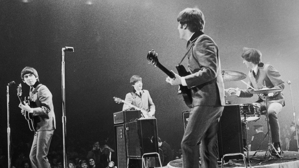 The Beatles performing live