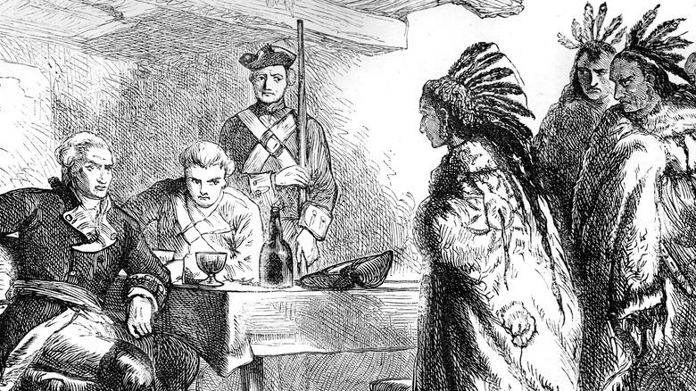 British and Native Americans