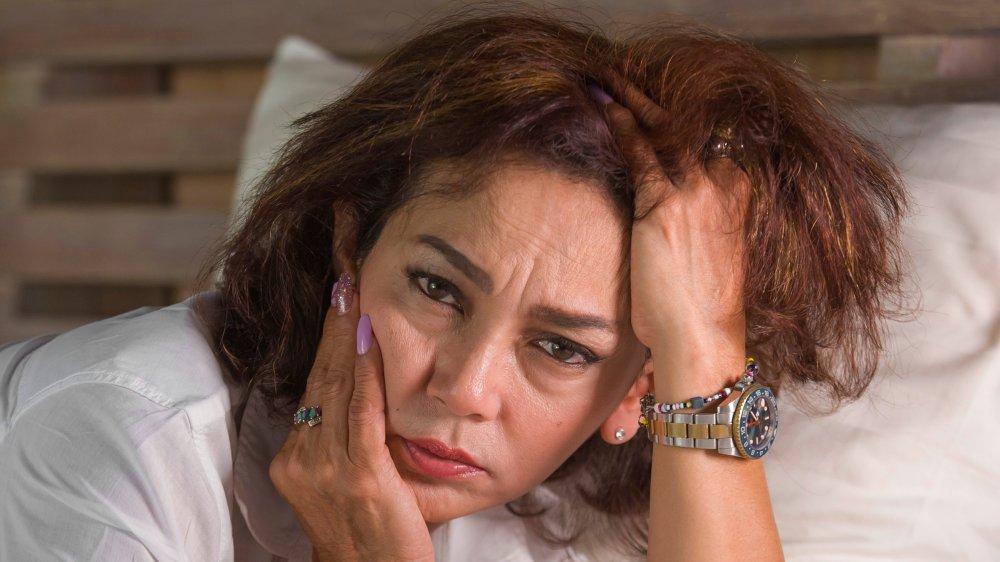 Miserable woman