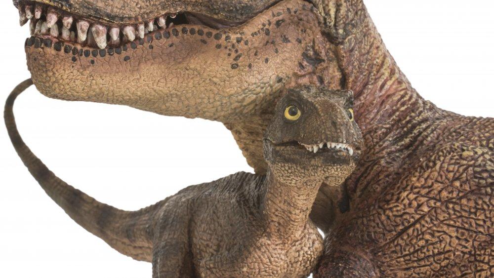 baby tyrannosaurus mama t-rex