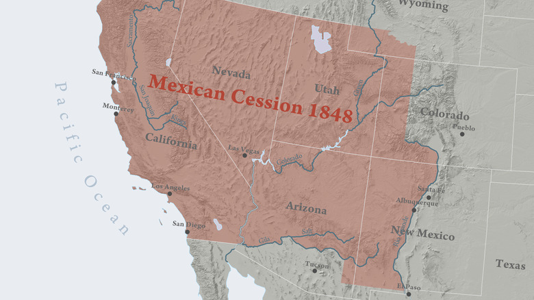 boundaries of Mexican Cession