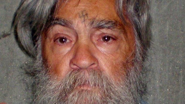 Cropped mugshot of Charles Manson from 2011