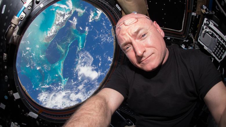 Astronaut Scott Kelly aboard ISS