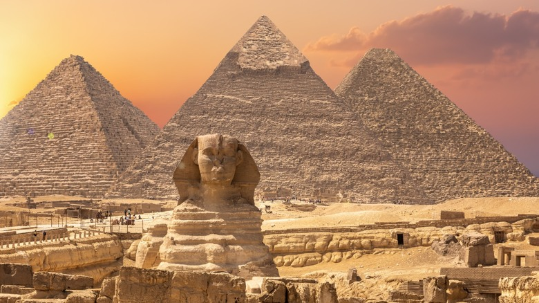 The Pyramids of Giza and Great Sphinx of Giza