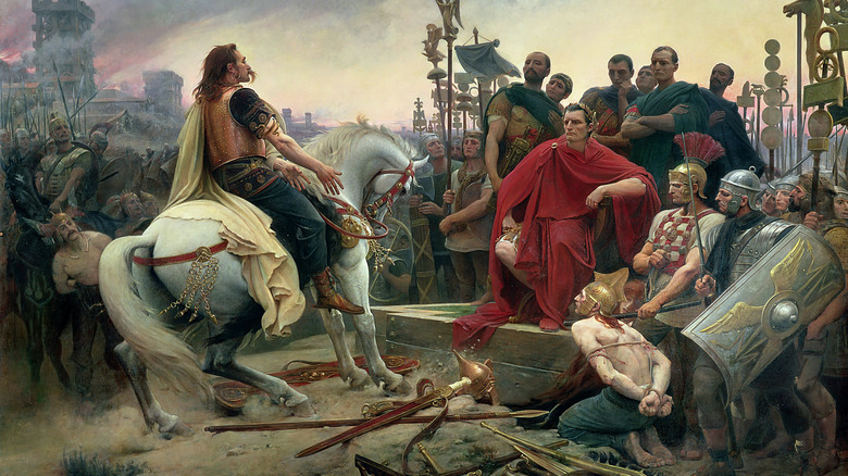 Vercingetorix surrenders painting
