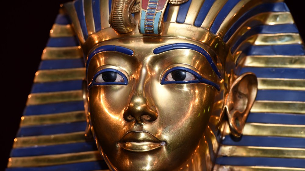 Burial mask of Egyptian Pharaoh Tutankhamun