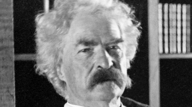 Mark Twain close-up photo