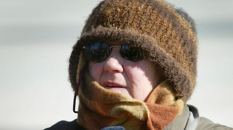 Norma McCorvey wearing a hat