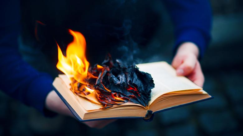 A burning Bible