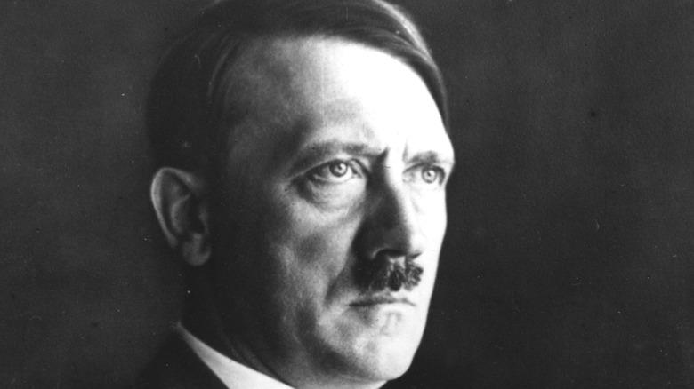 Adolf Hitler looking stern