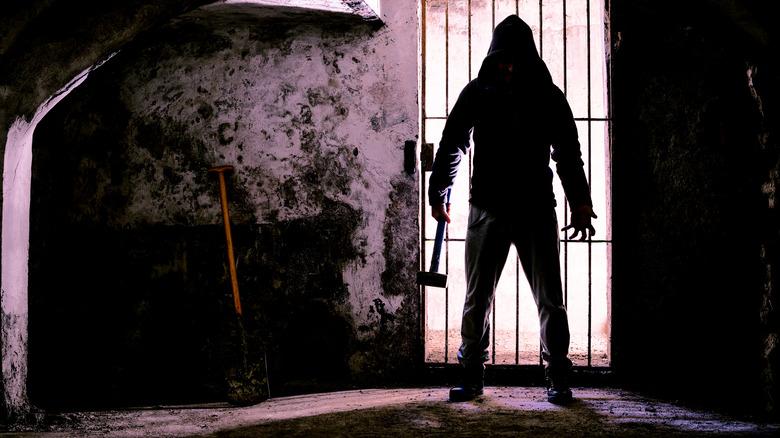 Man with sledgehammer