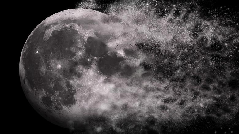 Exploding moon