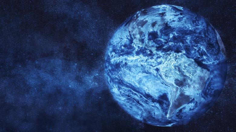 A frozen earth