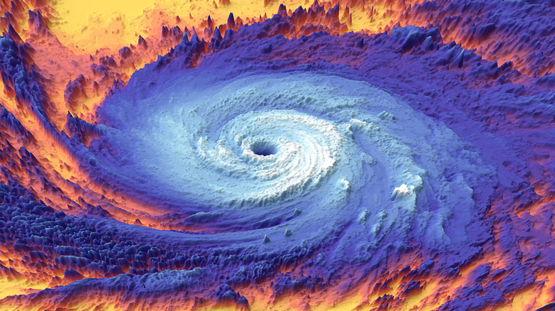 Thermal image of a hurricane