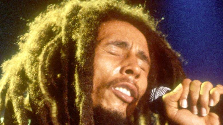 Bob Marley performing