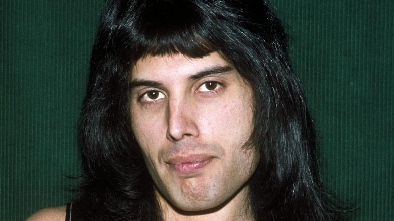 Freddie Mercury with long hair
