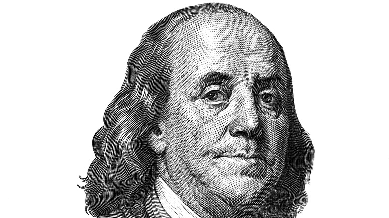 Benjamin Franklin portrait on currency