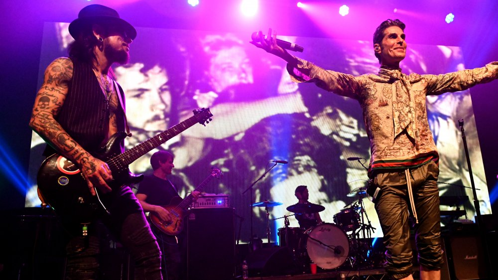 Perry Farrell and Dane Navarro performing with Jane's Addiction