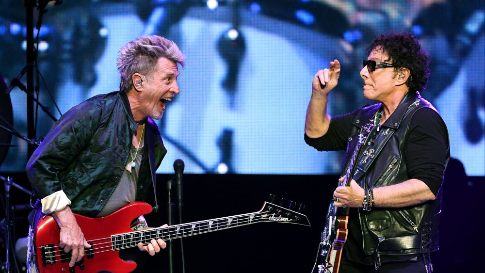 Neil Schon on stage with Journey