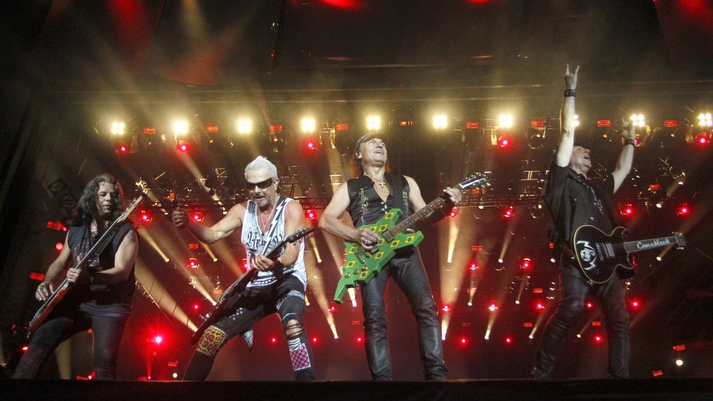 Scorpions performing in Rio in 2019