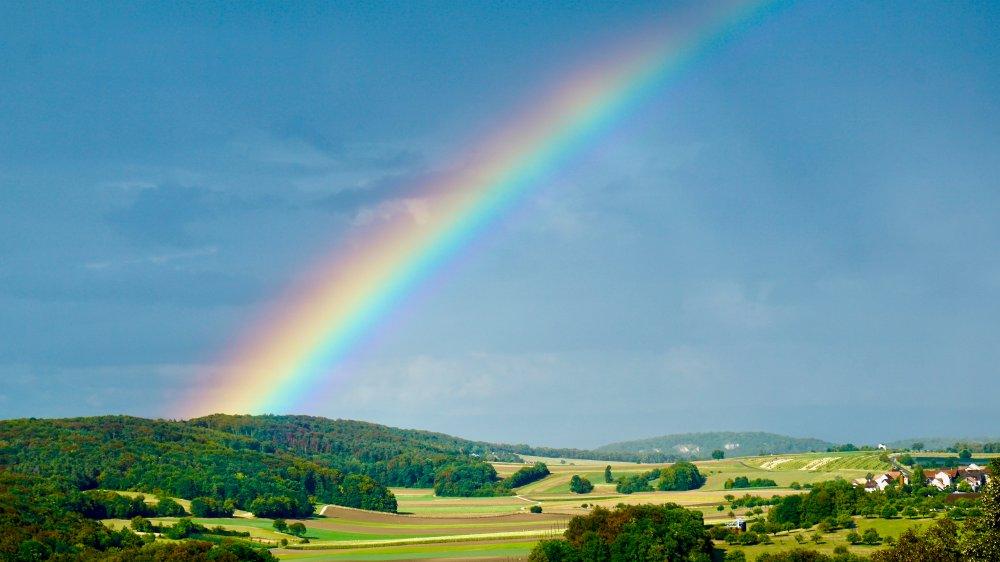 Rainbow in Switzerland