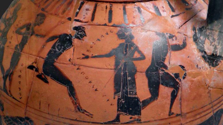 Pot depicting ancient Olympic Games