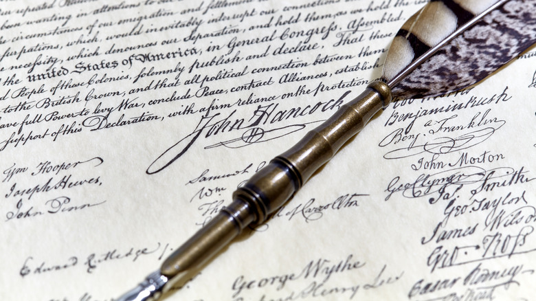 Declaration of Independence signatures