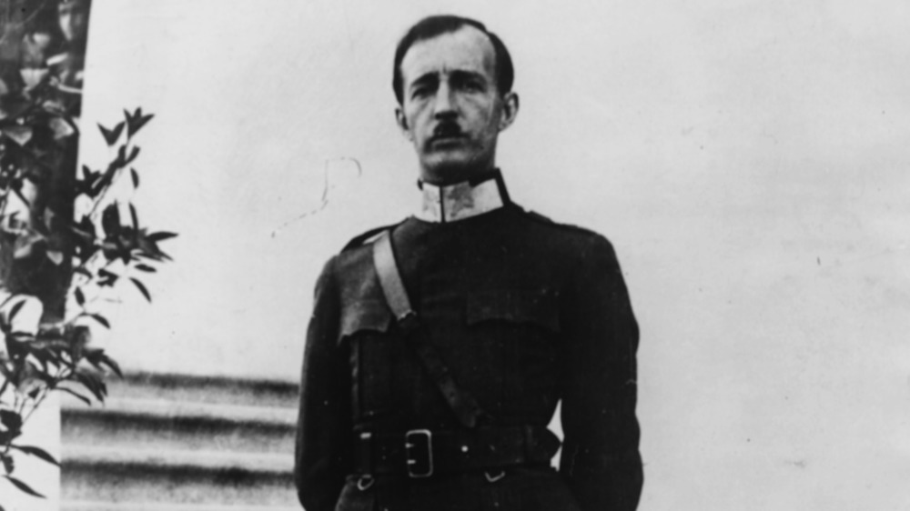 King Zog of Albania at attention