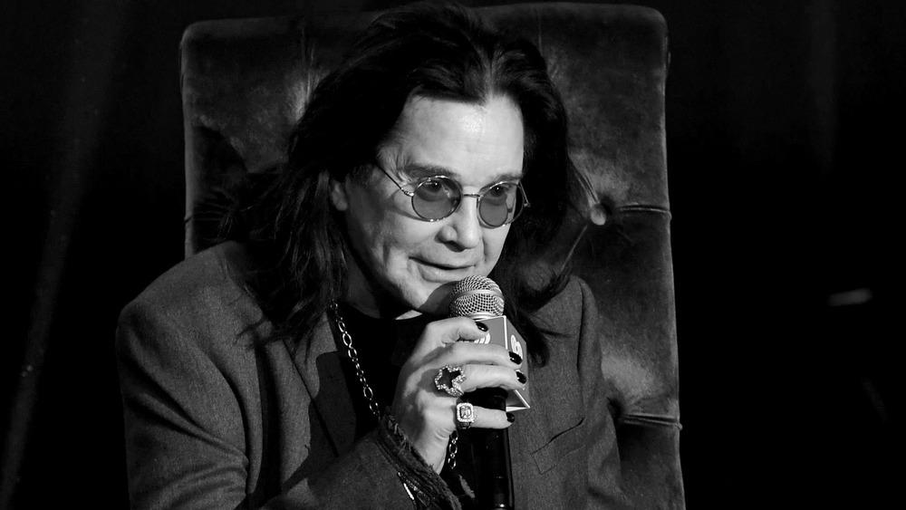 Black Sabbath singer Ozzy Osbourne does an interview