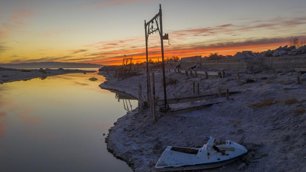 Abandoned Salton Sea marina