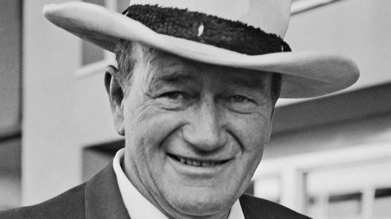 John Wayne smiles