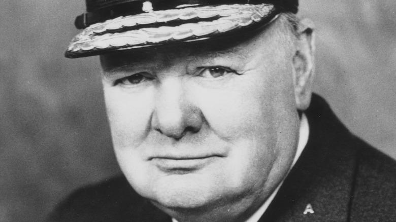 Winston Churchill close up portrait