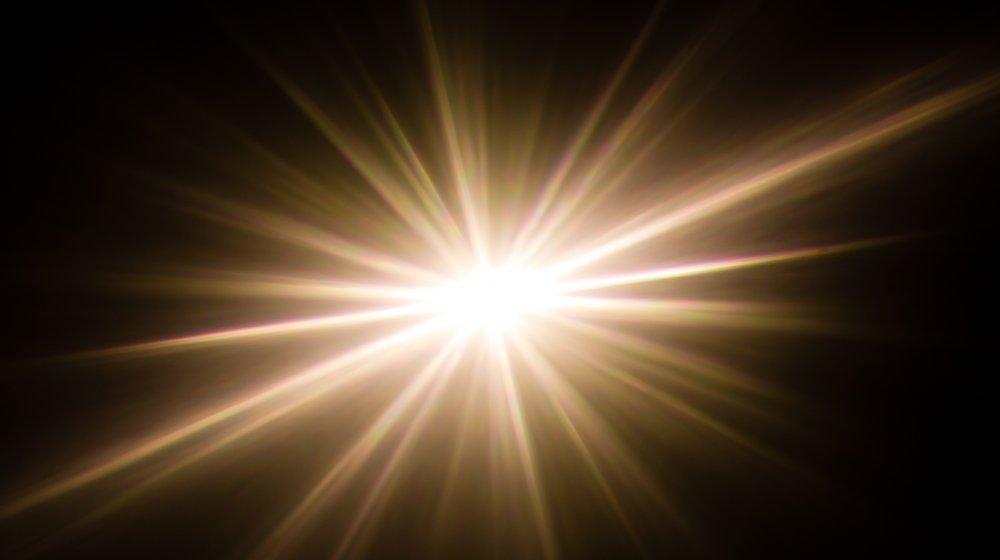 A light effect that looks sort of super nova-ish