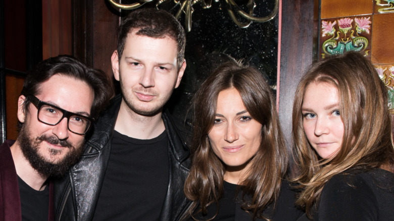 Giudo Cacciatori, Gro Curtis, Giorgia Tordini, and Anna Delvey attend the first Tumblr Fashion Honor presented to Rodarte at The Jane Hotel on September 9, 2014 in New York, United States.