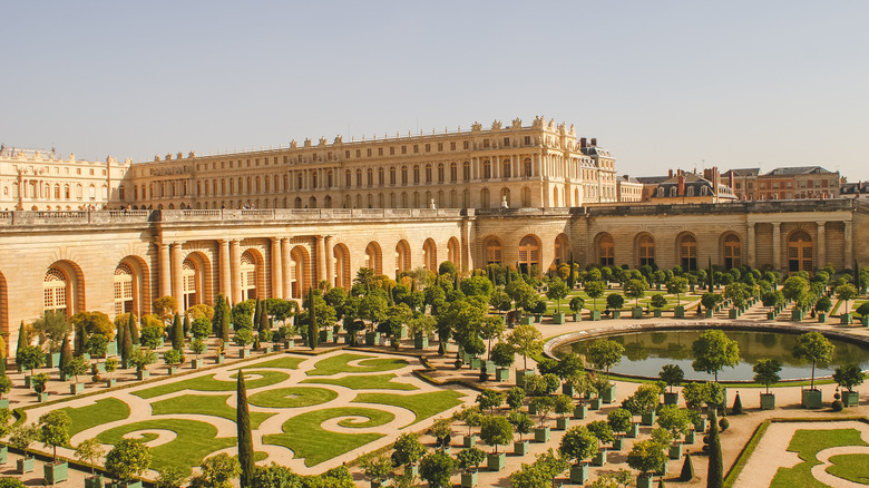 A photograph of the Palace of Versailles
