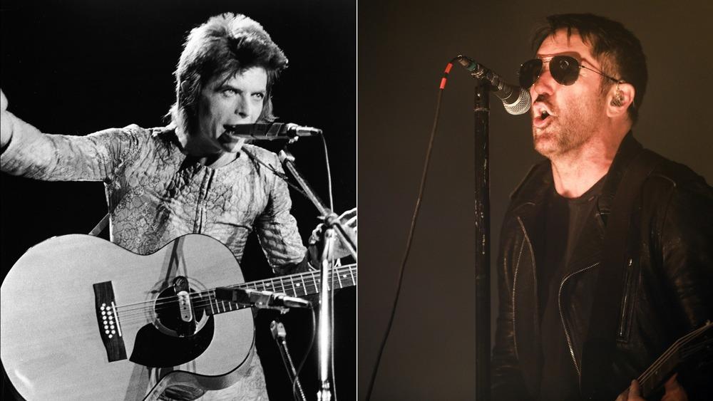 David Bowie (L); Trent Reznor (R)